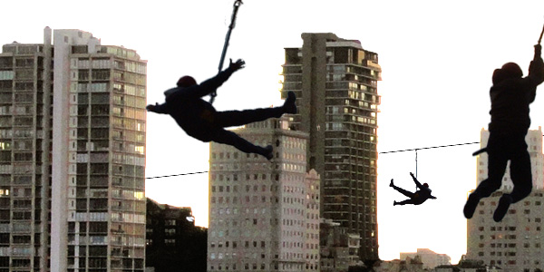 Zip Line Photo art, thanks Mansi for the city scape.